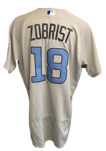 Photo of Ben Zobrist Team-Issued Father's Day Jersey -- Cubs vs Pirates -- 6/17/17