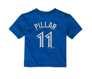 Toronto Blue Jays Toddler Kevin Pillar Player T-Shirt Royal by Majestic