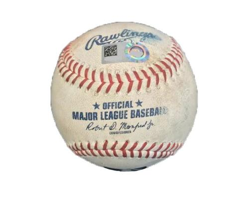 Photo of Game-Used Baseball from Pirates vs. Rockies on 6/13/17 - Blackmon Fly Out, LeMahieu Single, 4 Pitches to Arenado