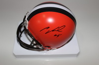 NFL - BROWNS CODY KESSLER SIGNED BROWNS MINI HELMET