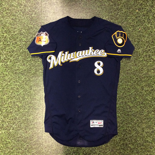 Photo of Ryan Braun 2017 Game-Used Spring Training Jersey