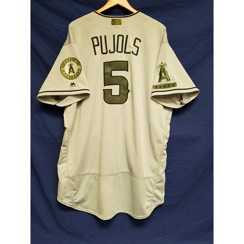 Photo of Albert Pujols Memorial Day Game-Used Jersey
