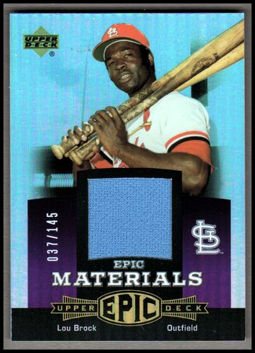 Photo of 2006 Upper Deck Epic Materials Dark Purple #LB1 Lou Brock Pants/145