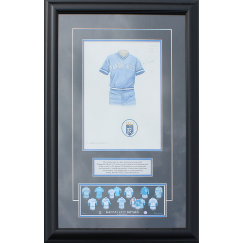 Photo of 1976 Jersey History Frame (Non authenticated)