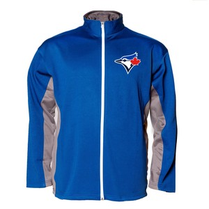 Toronto Blue Jays Big & Tall Full Zip Track Jacket Royal/Grey by Majestic