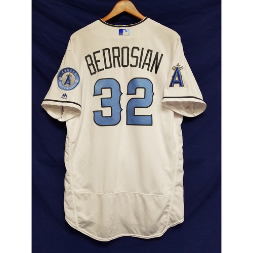 Photo of Cam Bedrosian Game-Used Blue Fathers Day Jersey