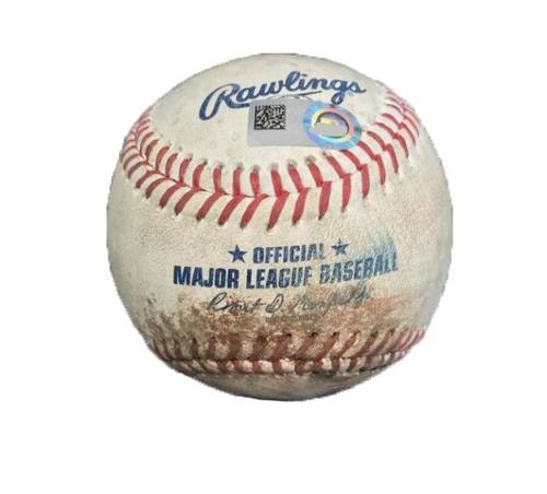 Photo of Game-Used Baseball from Pirates vs. Cardinals on 7/14/17 - Cole to Wong, DeJong - Wong Pop Out, 2 Pitches to DeJong