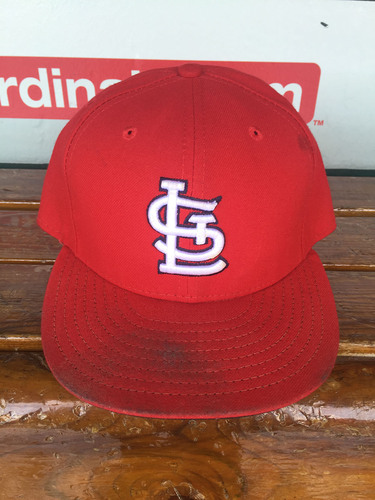 Photo of Cardinals Authentics: Carlos Villanueva game worn Home Red hat from September 30th
