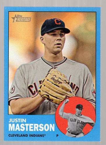Photo of 2012 Topps Heritage #14B Justin Masterson WM SP