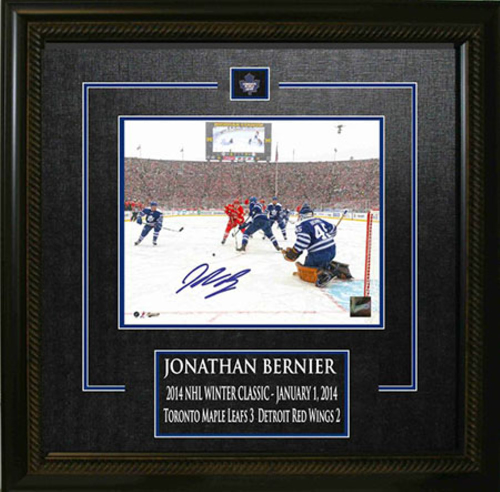 Jonathan Bernier - Signed & Framed 8x10 Etched Mat - Toronto Maple Leafs Winter Classic