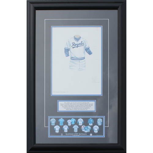 Photo of 1980 Jersey History Frame (Non authenticated)
