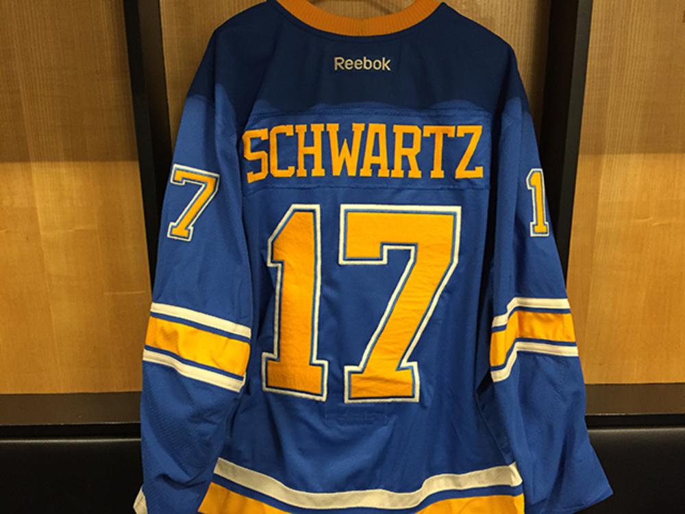 Jaden Schwartz Winter Classic Game-worn Jersey