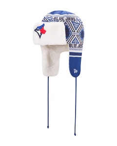 Toronto Blue Jays Festive Trapper Knit Toque by New Era