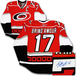 Rod Brind'Amour Autographed Carolina Hurricanes Authentic Pro Jersey w/2006 Stanley Cup Final Patch