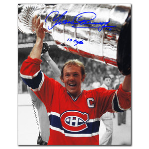 Yvan Cournoyer Montreal Canadiens 10 CUPS Autographed 8x10