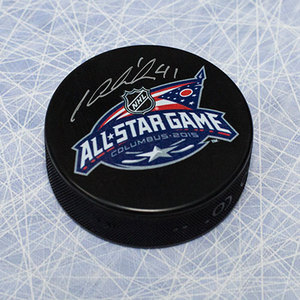 Jaroslav Halak NHL Autographed 2015 All Star Game Hockey Puck *New York Islanders*