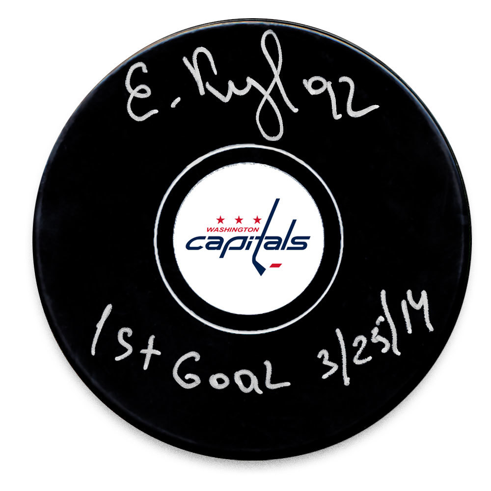 Evgeny Kuznetsov Washington Capitals 1st Goal 3/25/14 Autographed Puck