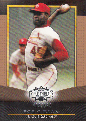 Photo of 2011 Topps Triple Threads Sepia #59 Bob Gibson