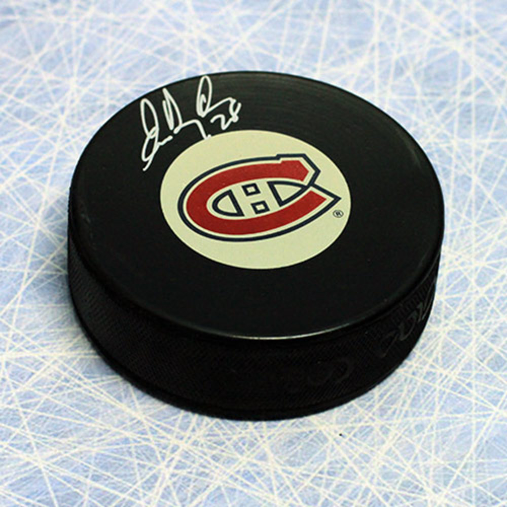 Eric Desjardins Montreal Canadiens Autographed 1993 Stanley Cup Puck