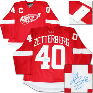 Henrik Zetterberg Autographed Detroit Red Wings Authentic Pro Jersey