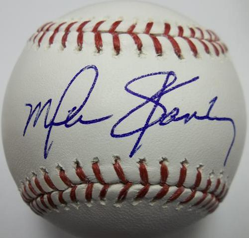 Photo of Mike Stanley Autographed Baseball