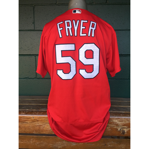 Cardinals Authentics: Eric Fryer Red Batting Practice Jersey