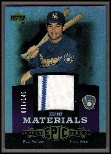 Photo of 2006 Upper Deck Epic Materials Dark Purple #PM1 Paul Molitor Jsy/145