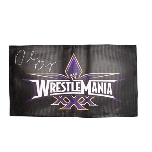 Daniel Bryan SIGNED WrestleMania 30 Logo Banner