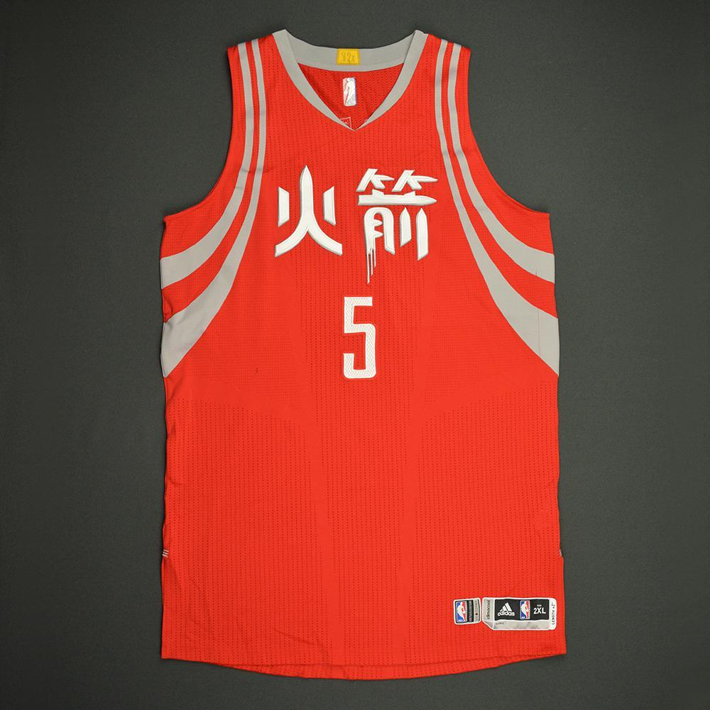 Montrezl Harrell - Houston Rockets - Game-Worn Red Chinese New Year Jersey - 2016-17 Season