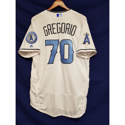 Photo of Tom Gregorio Game-Used Blue Fathers Day Jersey