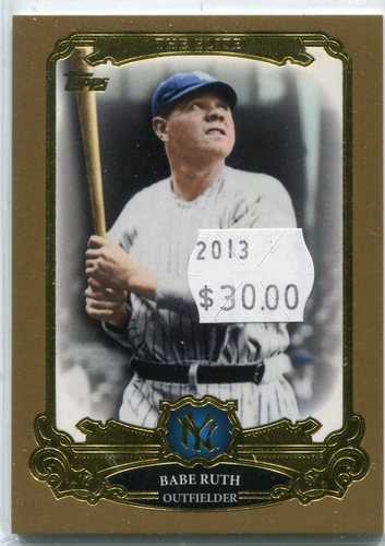 Photo of 2013 Topps The Elite Gold #TE17 Babe Ruth