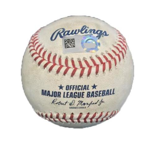 Photo of Game-Used Baseball from Pirates vs. Cardinals on 7/16/17 - Magneuris Sierra Single - 9th Straight Game with a Hit to Start Career, New Cardinals Rookie Record