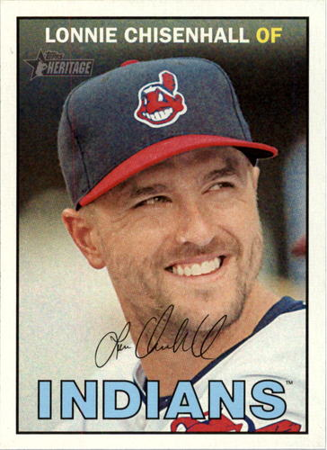 Photo of 2016 Topps Heritage #203 Lonnie Chisenhall -- Indians post-season