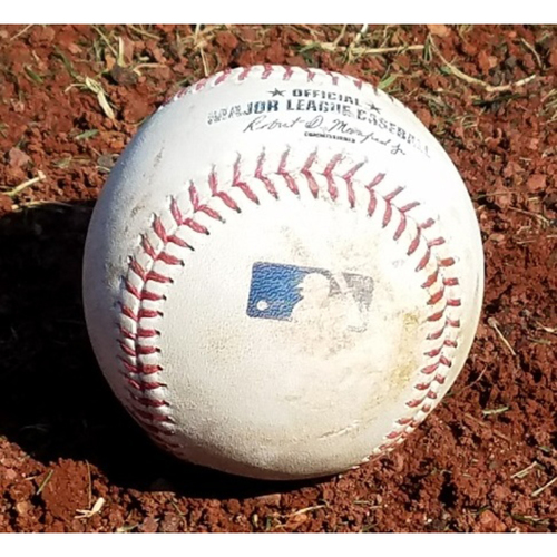 Photo of 2017 Game-Used Baseball: J.P. Crawford 1st Career Triple