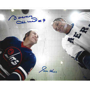 Gordie Howe & Bobby Hull Autographed Limited-Edition 8X10 Combo Photo - #6/9 (Winnipeg Jets)