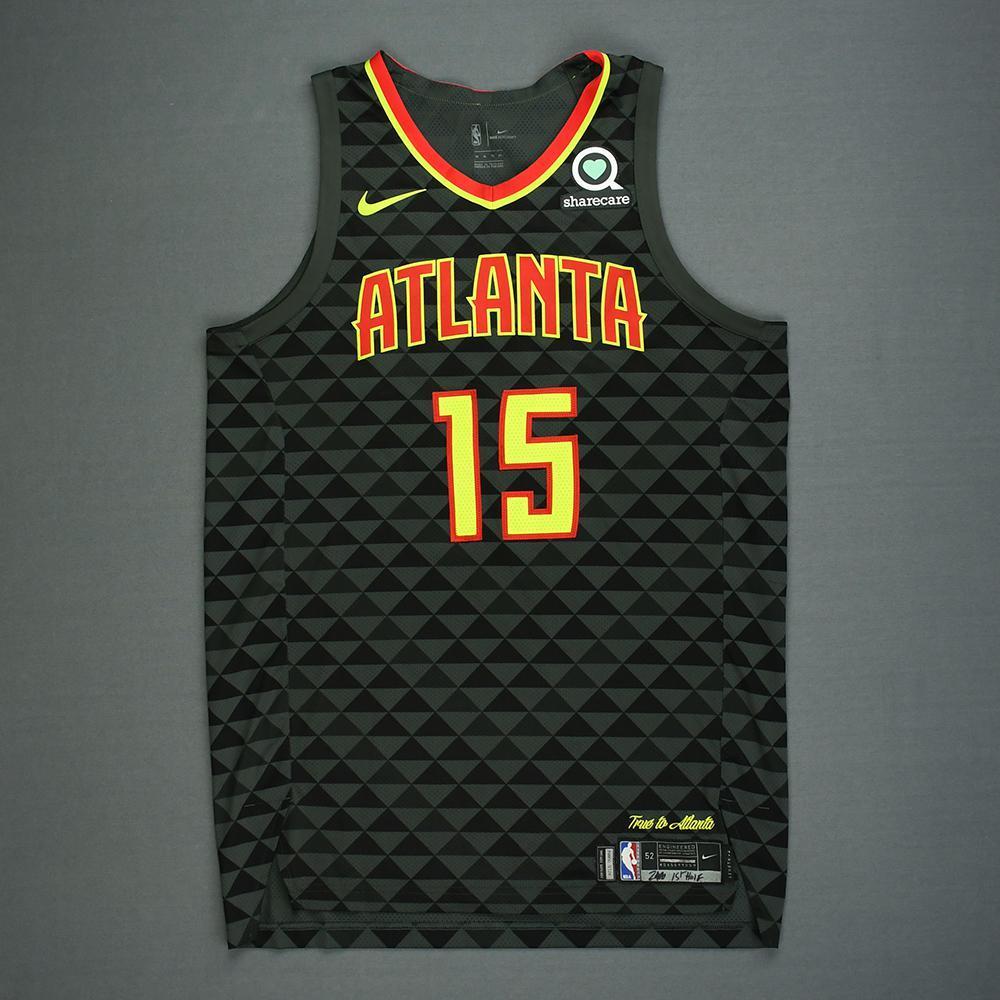 Vince Carter - Atlanta Hawks - Kia NBA Tip-Off 2018 - Game-Worn 1st Half Only Icon Edition Jersey
