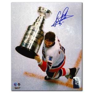 Denis Potvin New York Islanders OVERHEAD Autographed 8x10