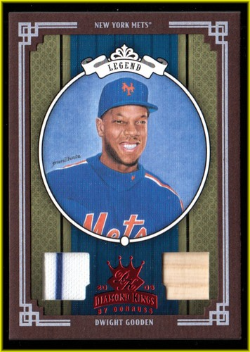 Photo of 2005 Diamond Kings Materials Framed Red #430 Dwight Gooden Bat-Jsy/200