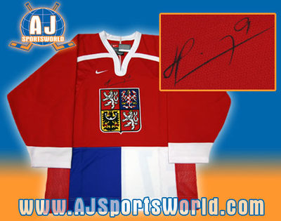 MARTIN HAVLAT Czech Republic SIGNED Olympic Jersey