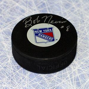 Bob Nevin New York Rangers Autographed Hockey Puck