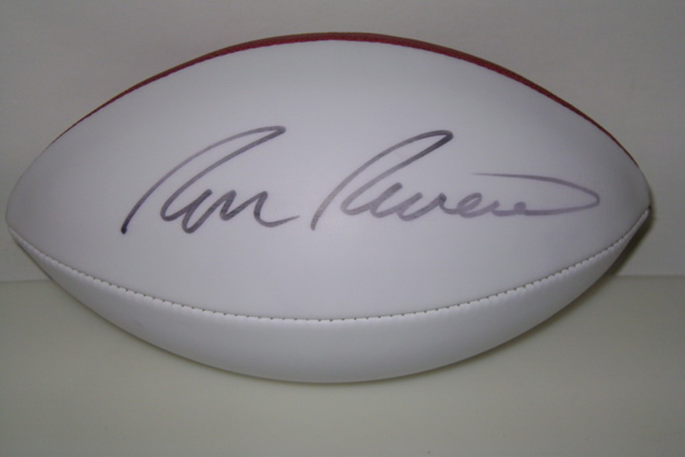 PANTHERS - RON RIVERA SIGNED PANEL BALL (SLIGHT SMUDGE ON SIGNATURE)