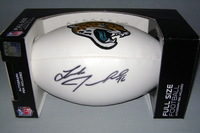JAGUARS - LUKE JOECKEL SIGNED PANEL BALL W/ JAGUARS LOGO
