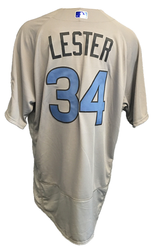 Photo of Jon Lester Game-Used Father's Day Jersey -- Cubs vs Pirates -- 6/17/17