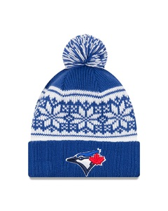 Toronto Blue Jays Jr.Snowy Pom Knit Toque by New Era