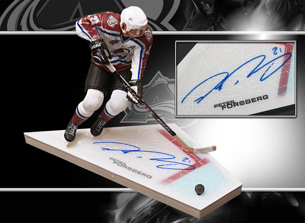 Peter Forsberg Colorado Avalanche VARIANT Autographed McFarlane Figurine LAST ONE
