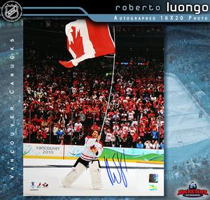 ROBERTO LUONGO Signed Team Canada 16 X 20 Photo - Florida Panthers