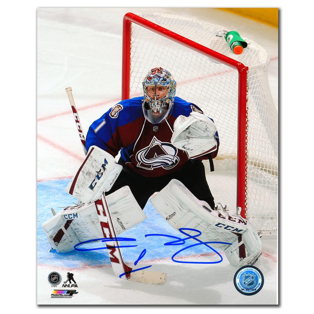 Semyon Varlamov Colorado Avalanche FOCUS Autographed 8x10