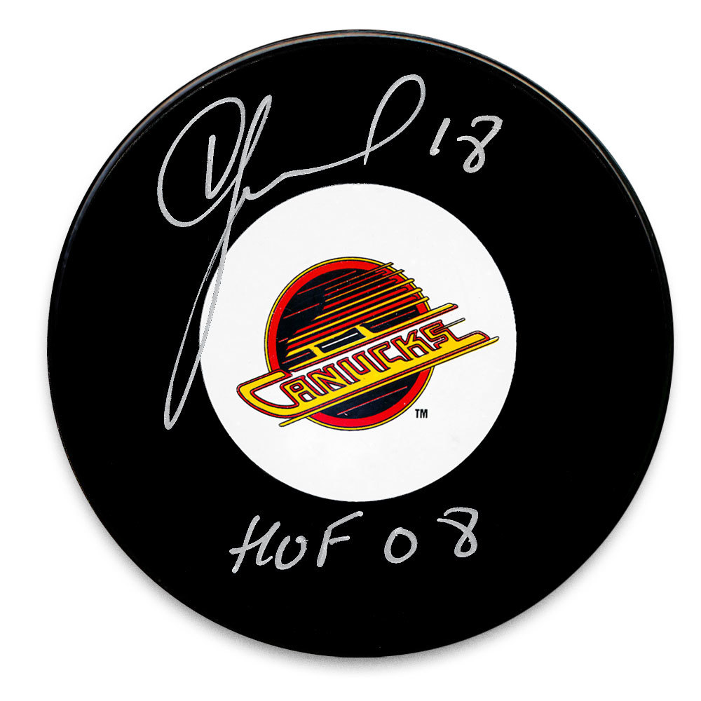 Igor Larionov Vancouver Canucks HOF Autographed Puck