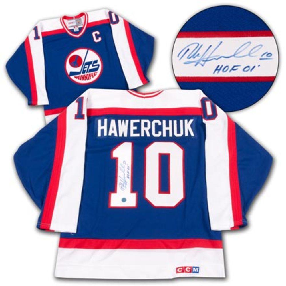 Dale Hawerchuk Winnipeg Jets Autographed Retro CCM Hockey Jersey