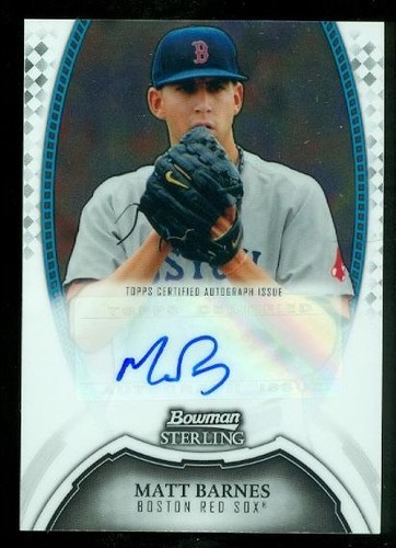 Photo of 2011 Bowman Sterling Prospect Autographs #MBA Matt Barnes RC AUTO